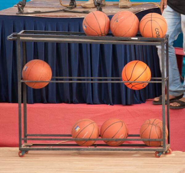 Basketballs Stand photo