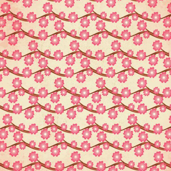 Japanese patters with cherry blossom vector