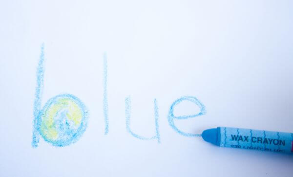 Blue Crayon photo