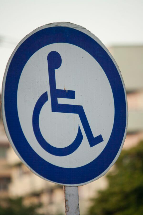 Handicapped Sign Wheel Chair photo