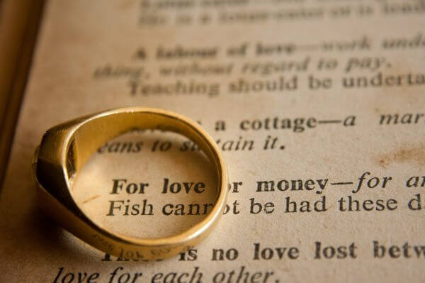 Love Or Money Phrase photo