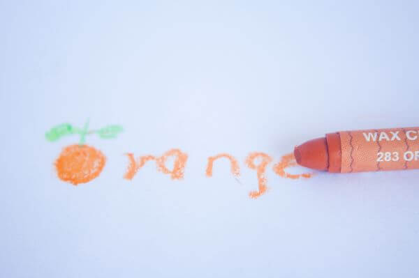 Orange Crayon photo