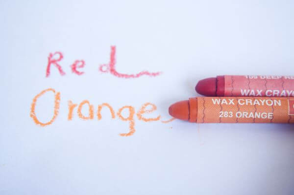 Red Orange Crayon photo
