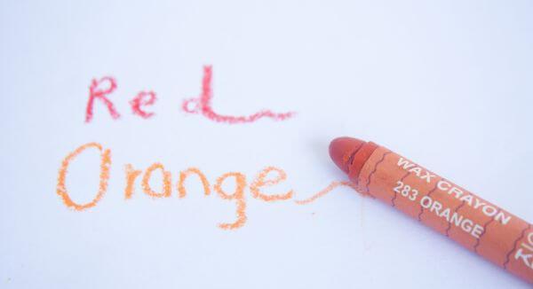 Red Orange Crayon photo