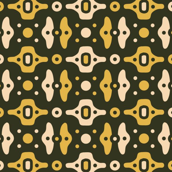 Mechanical Green, Yellow, and Cream Pattern vector