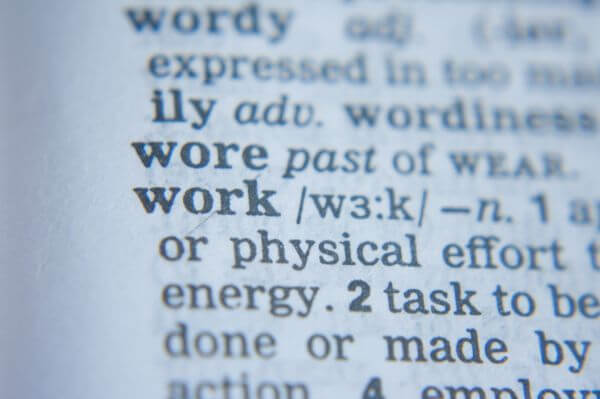 Work Word Dictionary photo