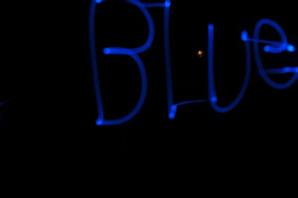 Blue Slow Shutter Speed photo