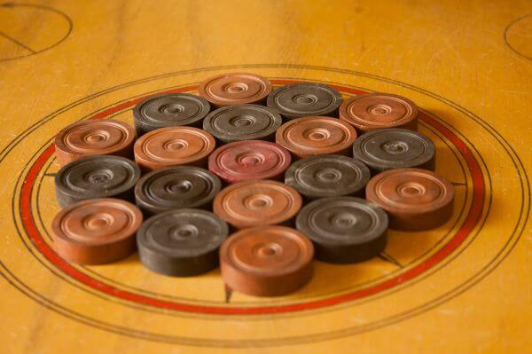 Carrom Coins Arranged photo