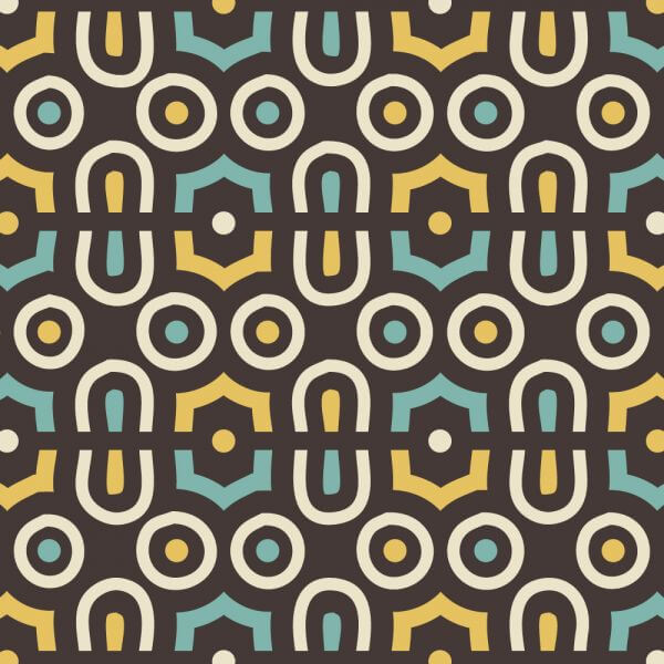Retro Yellow and Blue Abstract Pattern vector