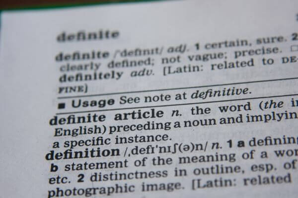 Definition Word photo