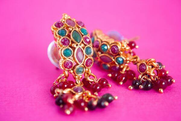 Earrings Colored Stones photo