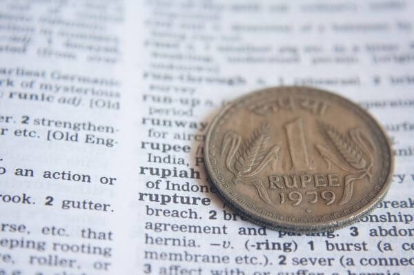 Indian Rupee Dictionary photo
