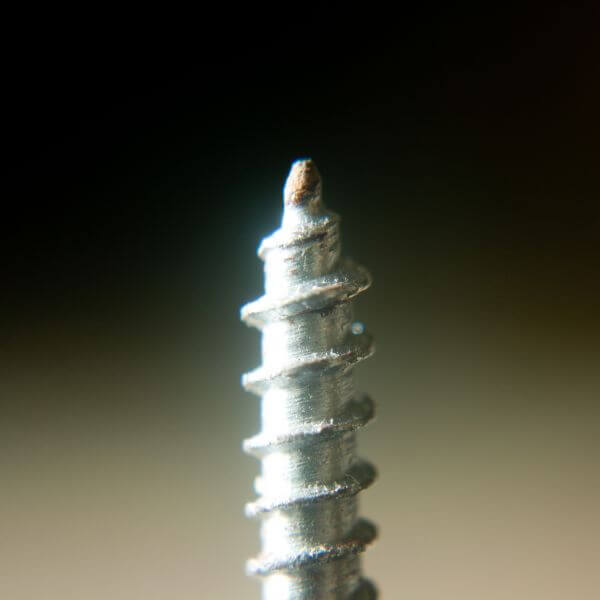 Metal Screw Spiral Closeup photo