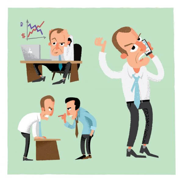 Business man characters. Vector illustration vector