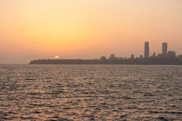 Sea Sunset City photo