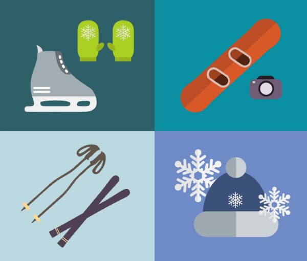 Sport objects for design. Vector illustrations. vector