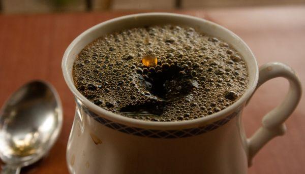 Bubbles On Tea Cup photo