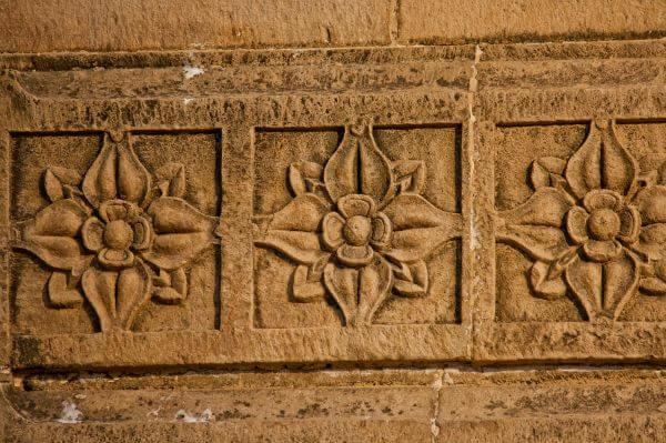 Flower Pattern On Wood photo