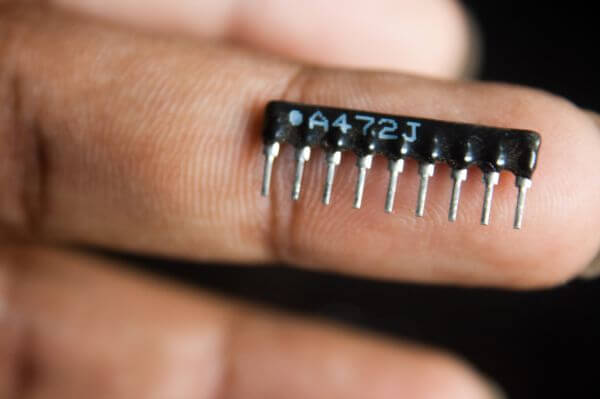 Integrated Circuit Closeup photo