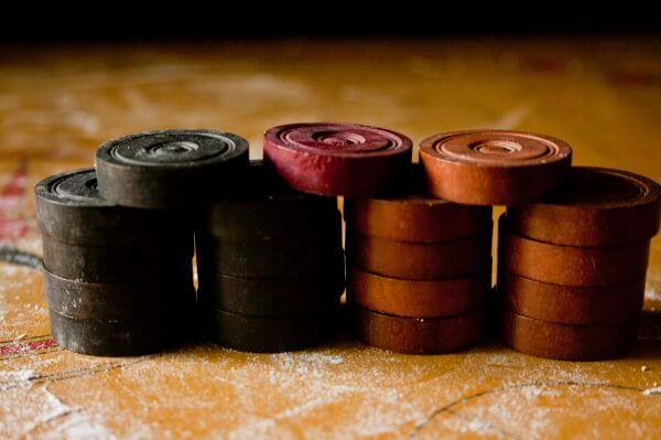 Piled Up Carrom Coins photo
