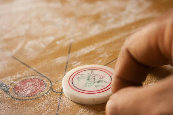 Playing Carrom photo