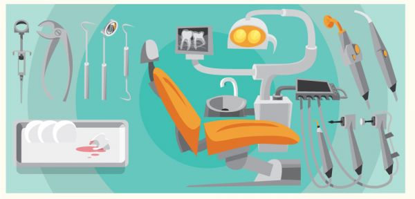 Dentist instrument equipment. Vector illustration vector