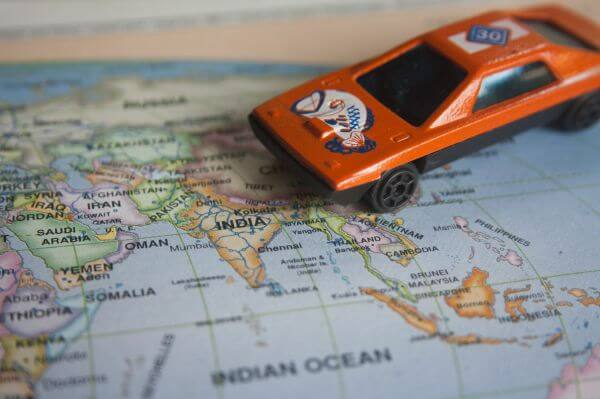 World Map Toy Car photo
