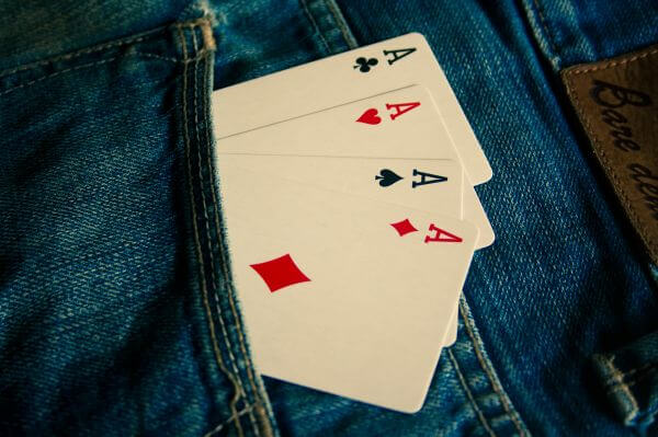 Ace Cards In Jeans photo
