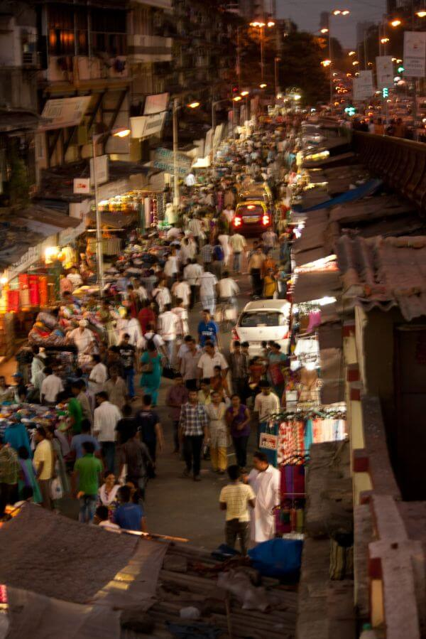 Crowded Street India photo