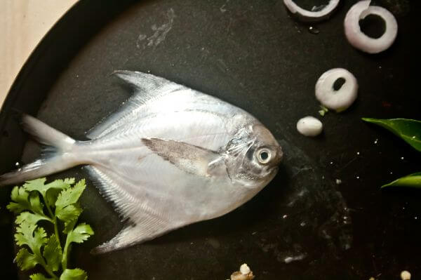 Fish Decoration In Plate photo
