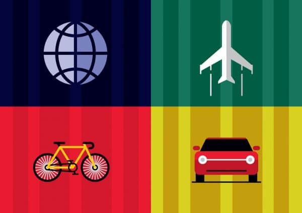 Travel objects vector illustration for design vector