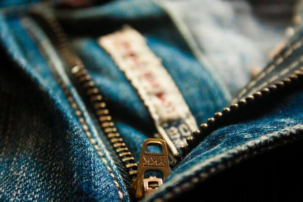 Jeans Zip Closeup photo