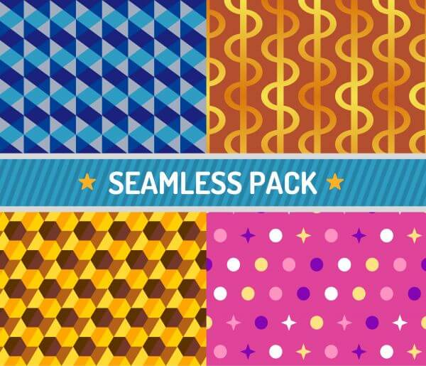 Vector seamless pattern vector illustration pack vector