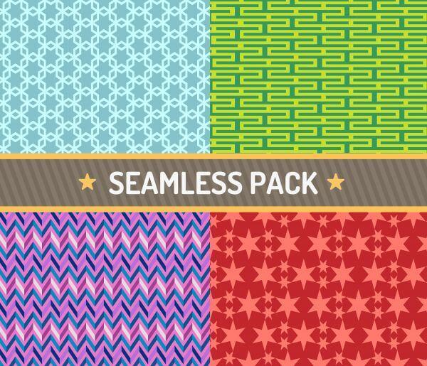 Vector seamless pattern vector illustration pack vector