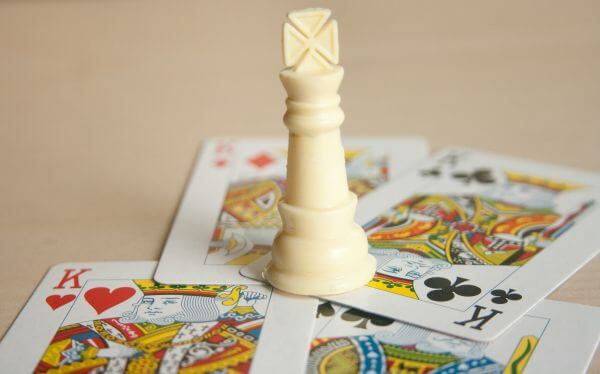 White King With Cards photo
