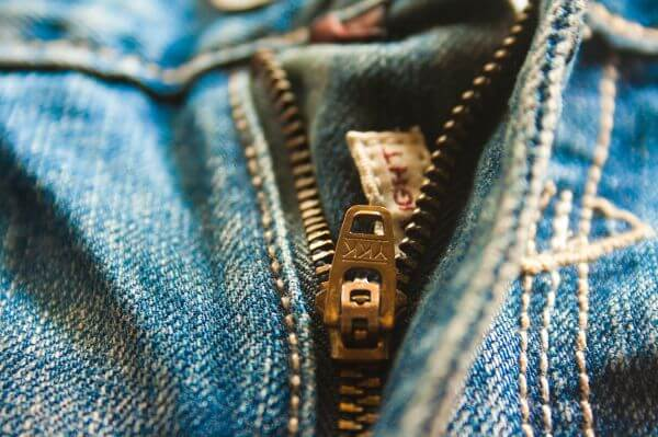Zip Jeans Closeup photo