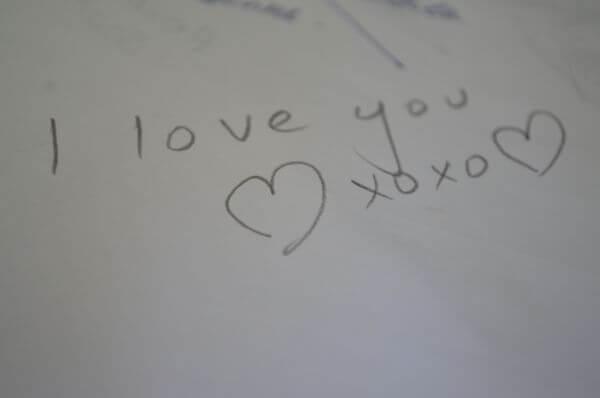 I Love You In Pencil photo