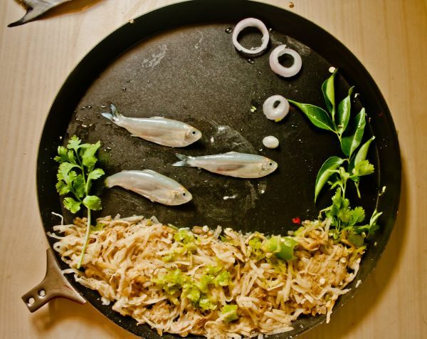 Fish Food Art In A Plate photo