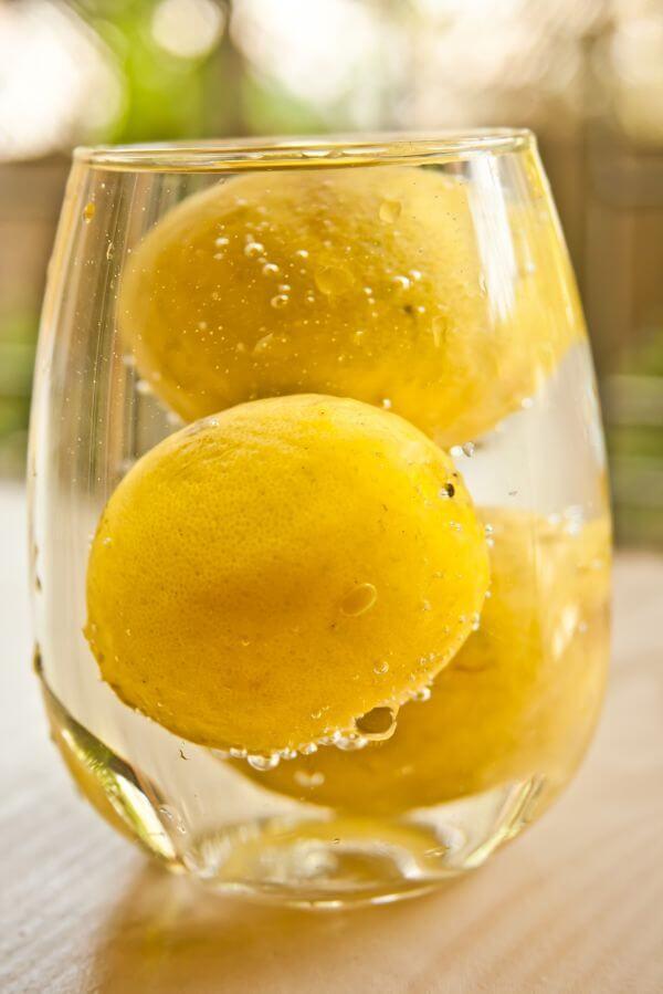 Lemons In Glass photo