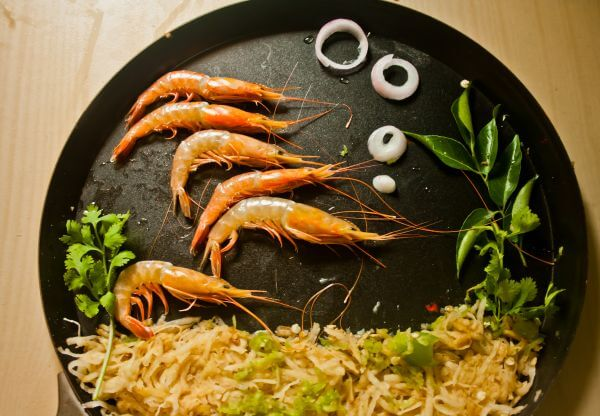 Prawns In Plate photo