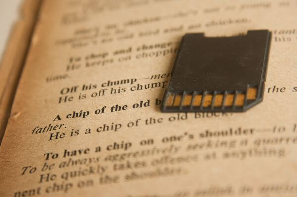 Sdcard Chip On Book photo