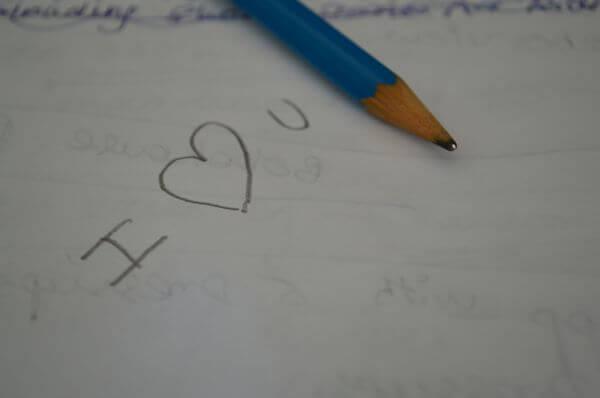 Pencil I Heart You photo