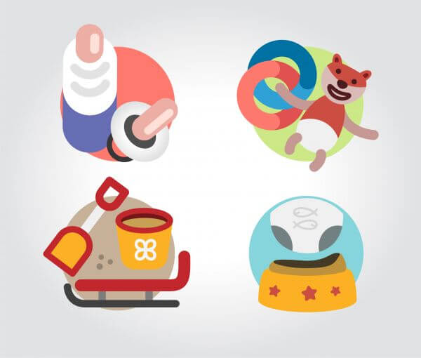 Toys icons vector illustration for design vector