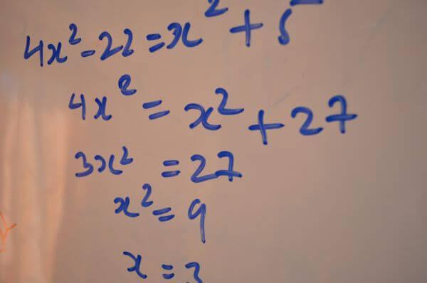 Quadratic Mathematics Equation