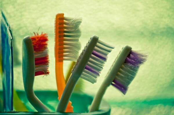 Colorful Toothbrushes photo