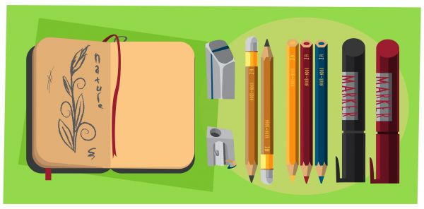 Designer tools vector objects for design. Vector illustrations