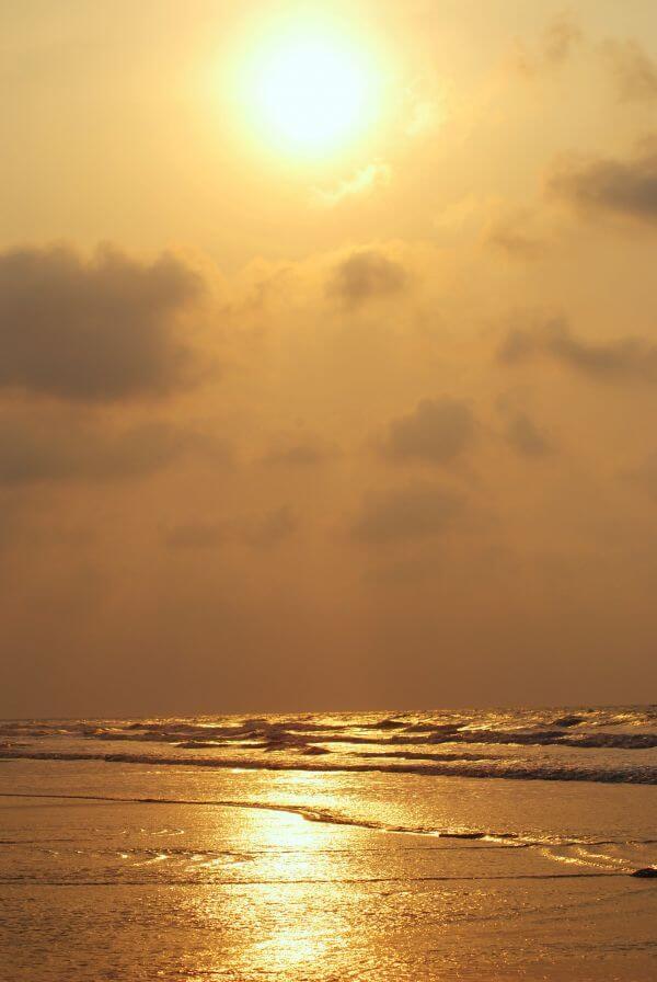Golden Sky At Sunrise photo