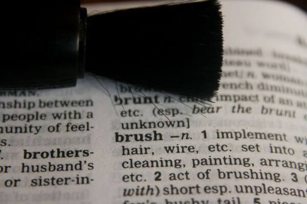 Brush Dictionary Word photo