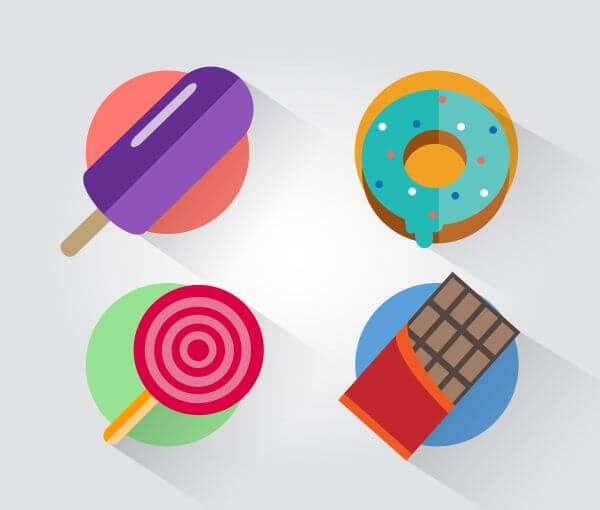 Food objects for design. Vector illustrations vector