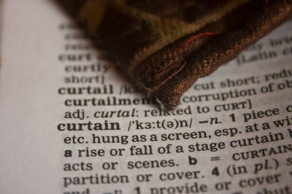 Curtain Dictionary Word photo